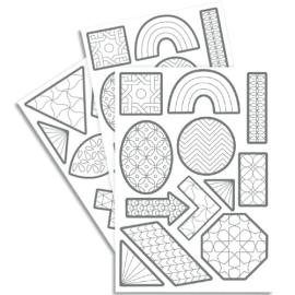 MAILDOR 240 gommettes Tocolor géométriques à colorier photo du produit