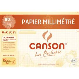 CANSON Pochette de 12 feuilles dessin millimétré bistre 90g A4 Ref-67115 photo du produit