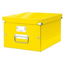 LEITZ Boîte CLICK&STORE M-Box. Format A4 - Dimensions : L281xH200xP369mm. Coloris Jaune Wow. photo du produit