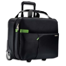 LEITZ Trolley cabine Inch carry-on 15,6 2 compartiments, fixation pour valise - L43 x H37 x P20 cm Noir photo du produit