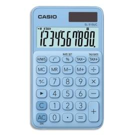 CASIO Calculatrice de poche 10 chiffres Bleue Claire SL-310UC-LB-S-EC photo du produit