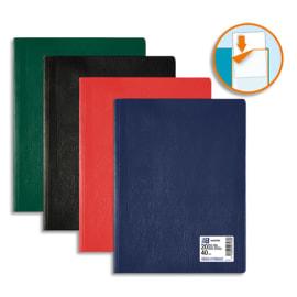 OXFORD Protège documents HUNTER 40 vues, 20 pochettes. En PVC opaque, grain aspect cuir.Coloris assortis photo du produit