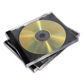 FELLOWES Packs de 10 boitiers CD standards Noirs 98310 photo du produit