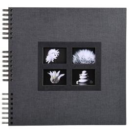 EXACOMPTA Album photos à spirales PASSION. Capacité 360 photos, pages Noires. 32x32 cm, coloris Noir photo du produit