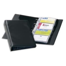 DURABLE Porte-cartes Visifix Economy pour 96 cartes de visite - 6 touches A-Z - L145 x H255 - Noir photo du produit