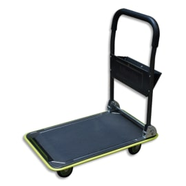 WONDAY Chariot pliable Gris Noir capacité 150 kg, porte outils - Dim. déplié : L73 x H83 x P47 cm photo du produit