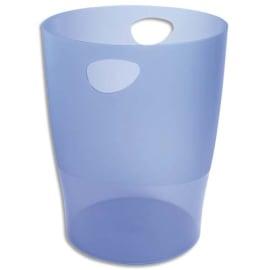 EXACOMPTA Corbeille à papier ECO 15 L Bleu translucide - Diamètre 26 cm, hauteur 33,5 cm photo du produit