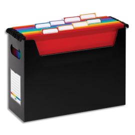VIQUEL Bac Noir Rainbow p/ dossiers suspendus en polypropylène. Livré avec 8 dossiers suspendus couleur photo du produit
