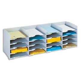 PAPERFLOW Bloc classeur à 25 cases fixes pour doc A4 capacité 500 feuilles L112 x H31,3 x P30,4 cm Gris photo du produit