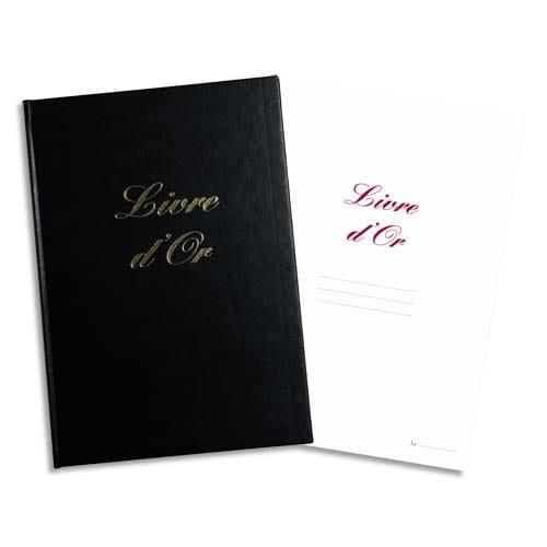 ELVE Livre d'Or format 210x160mm Noir 148 pages. Couverture aspect cuir photo du produit Principale L