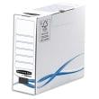 BANKERS BOX Boîte archives dos de 8cm BASIQUE, montage manuel, en carton Blanc/Bleu photo du produit