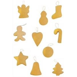 GRAINE CREATIVE Lot de 10 formes en carton thème Noël assorties photo du produit