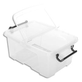 CEP Boîte de rangement Smart Box Strata avec couvercle clipsé dims int.22,1x31,5cm transparent 12L photo du produit