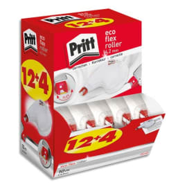 PRITT Boîte ECOpack 12+4 Roller de correction PRITT Compact Flex 4,2 mm x 10m. Application latérale photo du produit