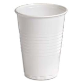 HUHTAMAKI Sachet de 100 gobelets 18 cl Blanc - Hauteur 9,1 cm Diamètre 7,03 cm photo du produit