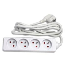 WONDAY Bloc multiprises électriques 4 prises électriques 1,5m GAE100362 photo du produit