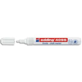 EDDING E-4095 Marqueurs craie liquide Blanc ogive 2-4mm à base d'eau. S'efface avec un chiffon humide. photo du produit