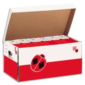 PLEIN CIEL Lot de 10 containers ouverture sur le dessus, couvercle attenant. Montage manuel. Carton Blanc photo du produit