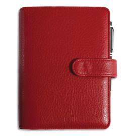 EXACOMPTA Organiseur Baltique Exatime 17, 1 semaine sur 2 pages, format 19 x 15 cm simili cuir Rouge photo du produit