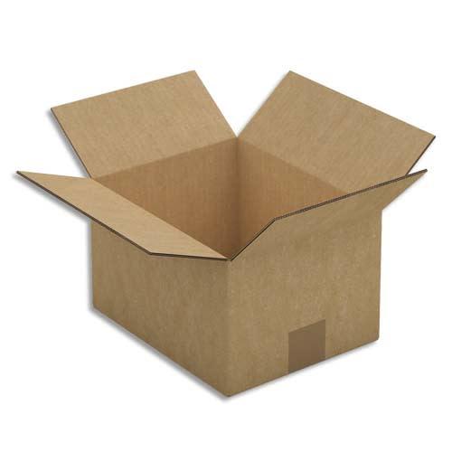 Paquet de 15 caisses américaines double cannelure en kraft brun - Dimensions : 25 x 15 x 20 cm photo du produit Principale L