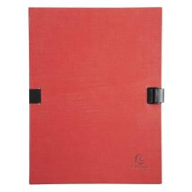 EXACOMPTA Chemise extensible, recouverte de papier contrecollé Rouge photo du produit