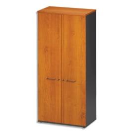 GAUTIER OFFICE Armoire 2 portes pleines Jazz Aulne Gris anthracite - Dimensions : L80 x H183 x P48 cm photo du produit