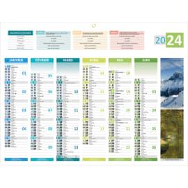 CBG Calendrier 4 saisons Médium, 6 mois par face soit 12 mois, photos paysages france - format 32 x 42 cm photo du produit