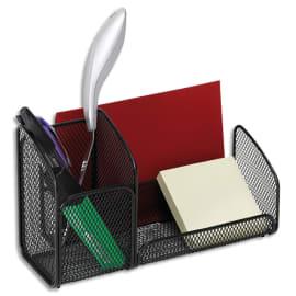 ALBA Trieur Mesh Noir en métal, 3 compartiments - Dimensions : L21 x H12,5 x P10 cm photo du produit