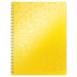 LEITZ Cahier WOW spirales 160 pages détachables 80g A4 5x5. Couverture polypropylène Jaune photo du produit