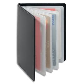 DURABLE Porte-cartes Anti RFIB Gris anthracite, plastique souple, 4 pochettes 8 cartes L7,5 x H10,2 cm photo du produit