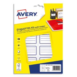 AVERY Pochette de 120 étiquettes cadre Bleu avec lignes, 36x56 mm photo du produit