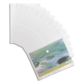 TARIFOLD Sachet de 12 pochettes fourretout VELCRO® perfo 11 trous Tcollection en PP 20/100 incolore photo du produit
