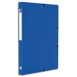 OXFORD Boîte de classement MEMPHIS 24x32cm, en polypropylène 7/10e. Dos 2,5cm. Coloris Bleu photo du produit