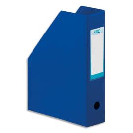 OXFORD Porte-revues en PVC soudé, dos de 7 cm 32x24cm, livré à plat. Coloris Bleu foncé photo du produit