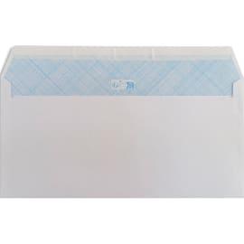 PERGAMY Boîte de 500 enveloppes Blanches 75g DL 110x220 mm auto-adhésives photo du produit