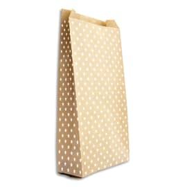 CLAIREFONTAINE Sachet de 50 pochettes cadeau en kraft. Format 15x31+6cm. Impression étoile photo du produit