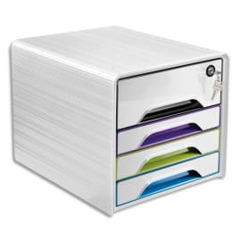 CEP Bloc class Smoove Secure Blc/Gloss multi 1 maxi tiroir ferme à clé+3 tiroirs std L36xH27,1xP28,8cm photo du produit