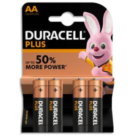 DURACELL Blister de 4 Piles Alcaline 1,5V AA LR6 Plus Power 5000394017641 photo du produit