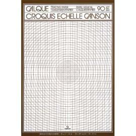 CANSON Bloc de papier calque croquis échelle 50 feuilles 90g A4 Ref-17143 photo du produit
