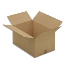 Paquet de 25 caisses américaines simple cannelure en kraft brun - Dimensions : 45 x 24 x 30 cm photo du produit