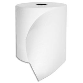 Lot de 6 Bobines d'essuie-mains pure ouate de cellulose blanche, 2 plis, longueur 140 m, laize 19,40 cm photo du produit