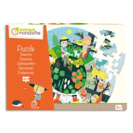 AVENUE MANDARINE Puzzle 40 pièces, dimaètre 45 cm, thème Les saisons. A partir de 5 ans. photo du produit