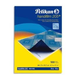 PELIKAN Boîte de 100 films Bleues carbone A4 Handifilm pour écriture Noir photo du produit