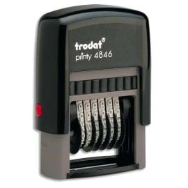 TRODAT Numéroteur 6 bandes - Printy 4846 à encrage automatique. Hauteur caractères 4mm photo du produit