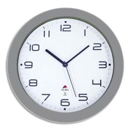 ALBA Horloge murale radio pilotée Hornewrc Grise en métal - Diamètre 30 cm photo du produit