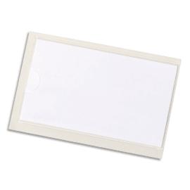 DURABLE Sachet 10 Pochettes adhésives Pocketfix H43 x L74 mm - ouverture latérale - Transparent photo du produit