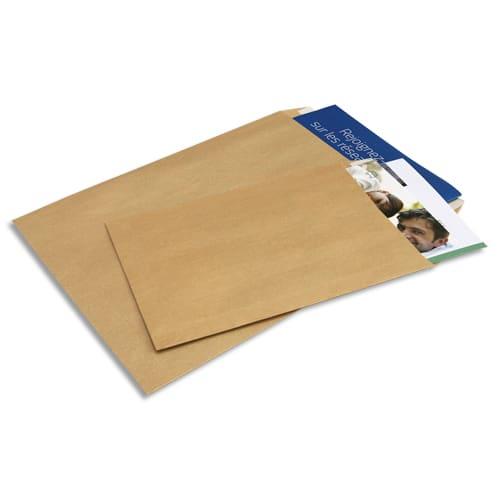 BONG Boîte de 500 pochettes kraft Adour brun auto-adhésives 90g format 176x250mm B5 photo du produit Principale L