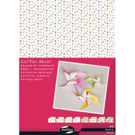 CLAIREFONTAINE Paquet de 40 feuilles carton décor 25x35cm 150g photo du produit