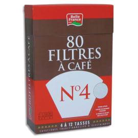 Boîte de 80 filtres à café n°4 Belle France + 1 sachet détartrant 3344 photo du produit
