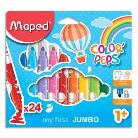 MAPED Pochette carton de 24 feutres JUMBO EARLY AGE photo du produit